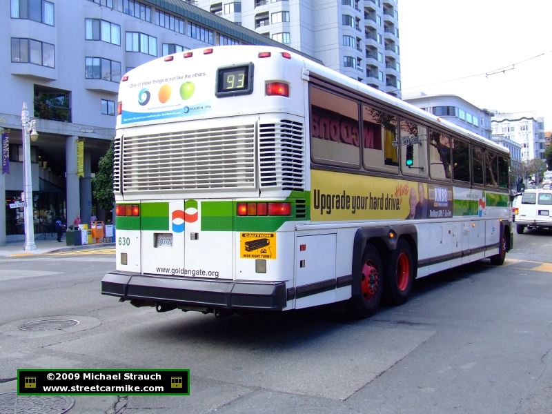 Golden Gate Transit Mci Buses 600 Series Streetcarmike Com